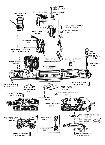 lionel diagrams and parts list